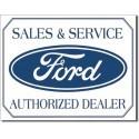 Plaque déco Sales & Service Ford - édition limitée