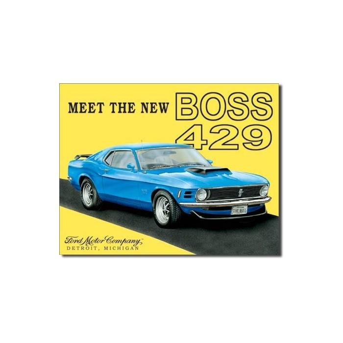 Plaque déco Mustang BOSS