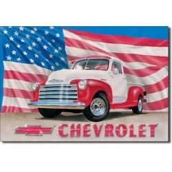 Plaque déco CHEVY '51 PICK UP - édition limitée