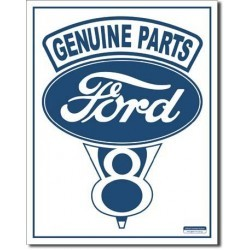 Plaque déco Ford Genuine Parts V8
