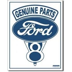 Plaque déco Ford Genuine Parts V8 - édition limitée