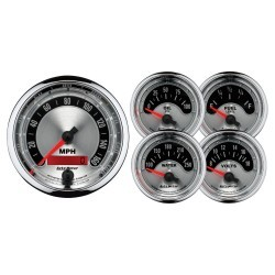 Kit 5 Manomètres Autometer American Muscle 1202