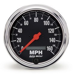 Compteur de vitesse Autometer Chrome 2489