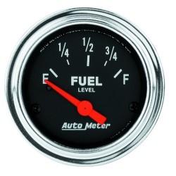 Jauge à carburant Autometer Chrome 2514