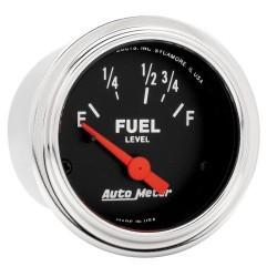 Jauge à carburant Autometer Chrome 2515