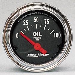 Manomètre de pression d'huile Autometer Chrome 2522