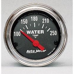 Manomètre de température d'eau Autometer Chrome 2532