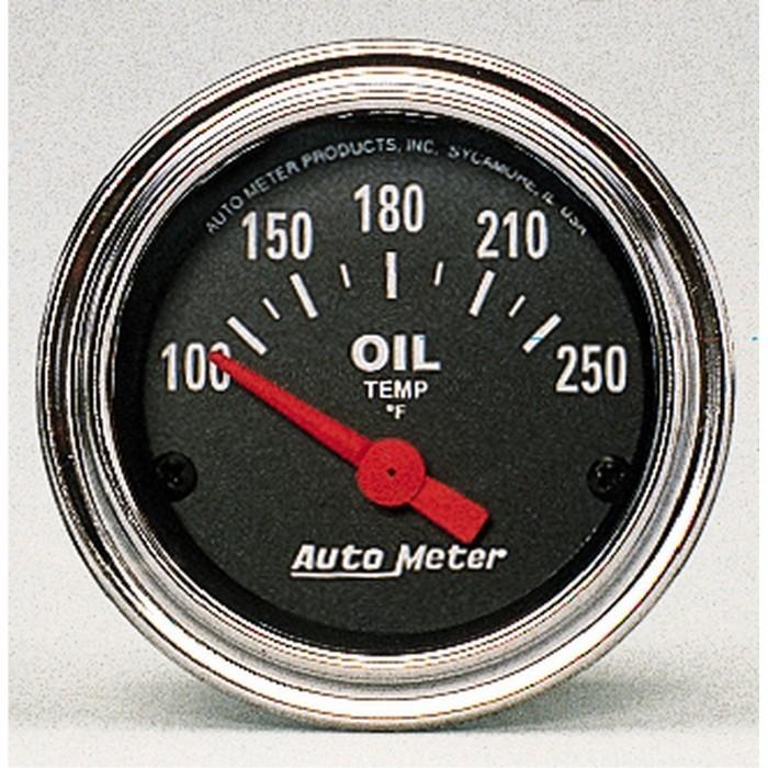 Manomètre de température d'huile Autometer Chrome 2542