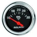 Manomètre de température d'huile Autometer Chrome 2543
