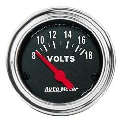 Voltmètre Autometer Chrome 2592