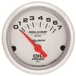 Manomètre de pression d'huile Autometer Ultra Lite 4327-M