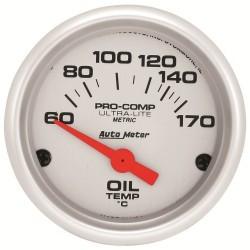 Manomètre de température d'huile Autometer Ultra Lite 4348-M