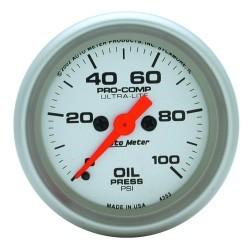 Manomètre de pression d'huile Autometer Ultra Lite 4353